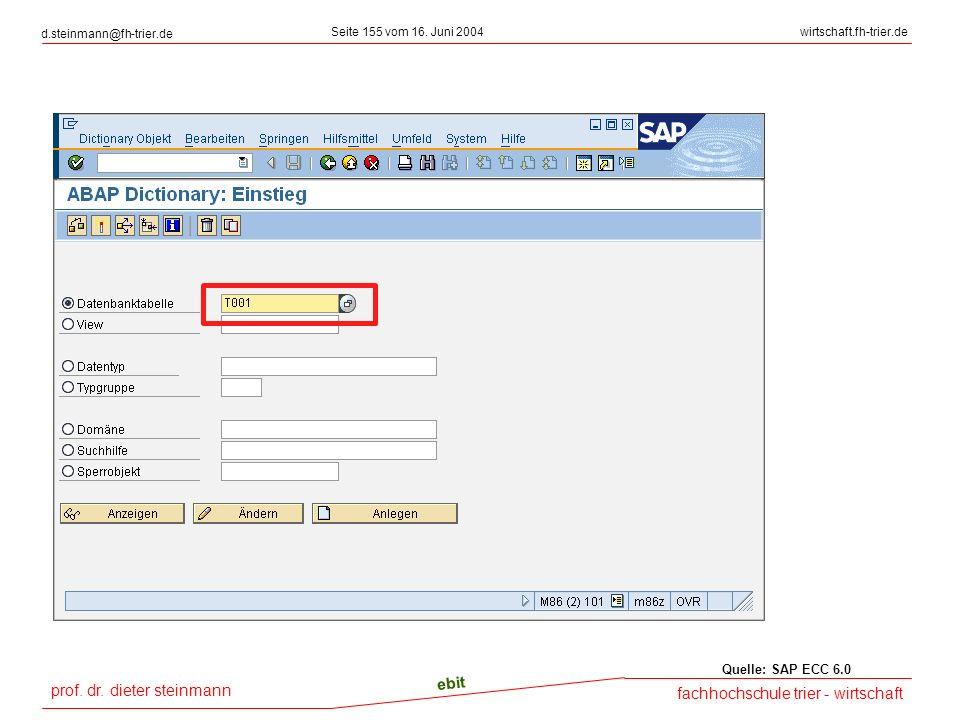 Quelle: SAP ECC 6.0