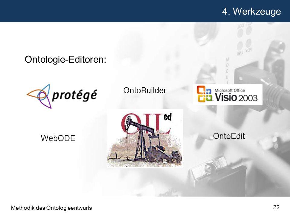 4. Werkzeuge Ontologie-Editoren: OntoBuilder OntoEdit WebODE