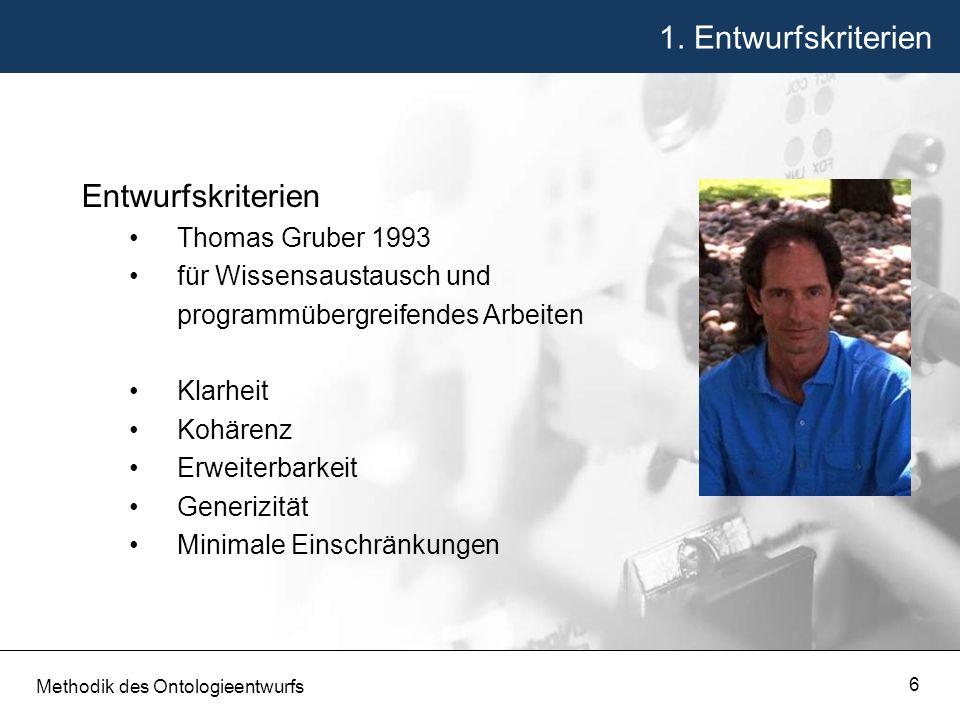 1. Entwurfskriterien Entwurfskriterien Thomas Gruber 1993