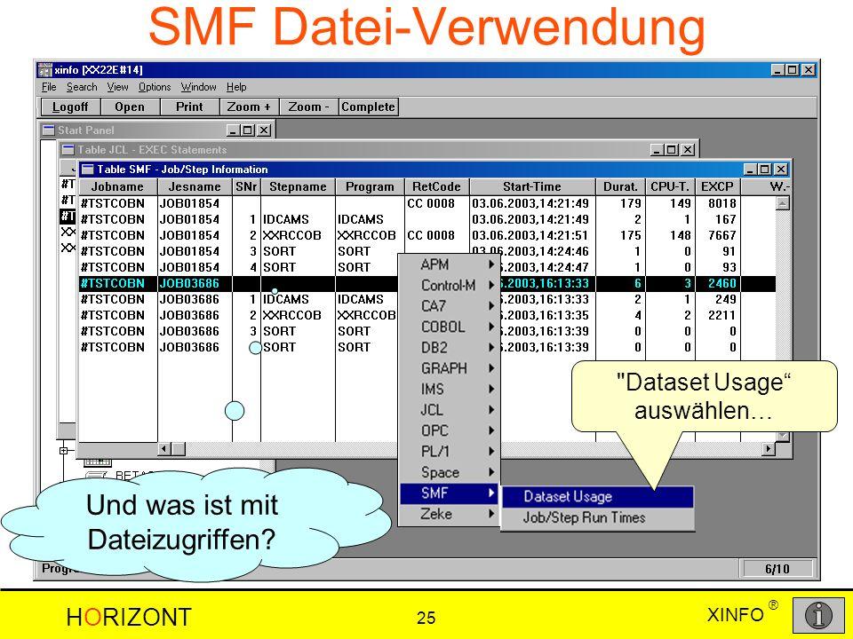 SMF Datei-Verwendung Und was ist mit Dateizugriffen