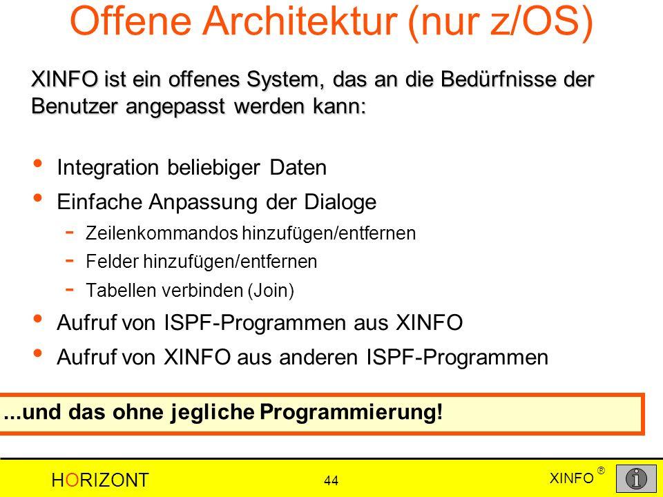 Offene Architektur (nur z/OS)