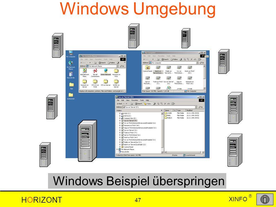 Windows Beispiel überspringen