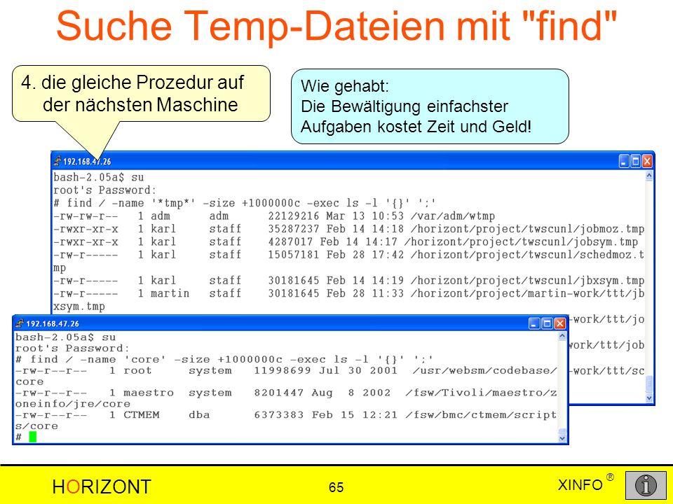 Suche Temp-Dateien mit find