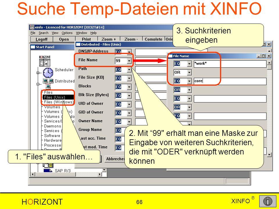 Suche Temp-Dateien mit XINFO