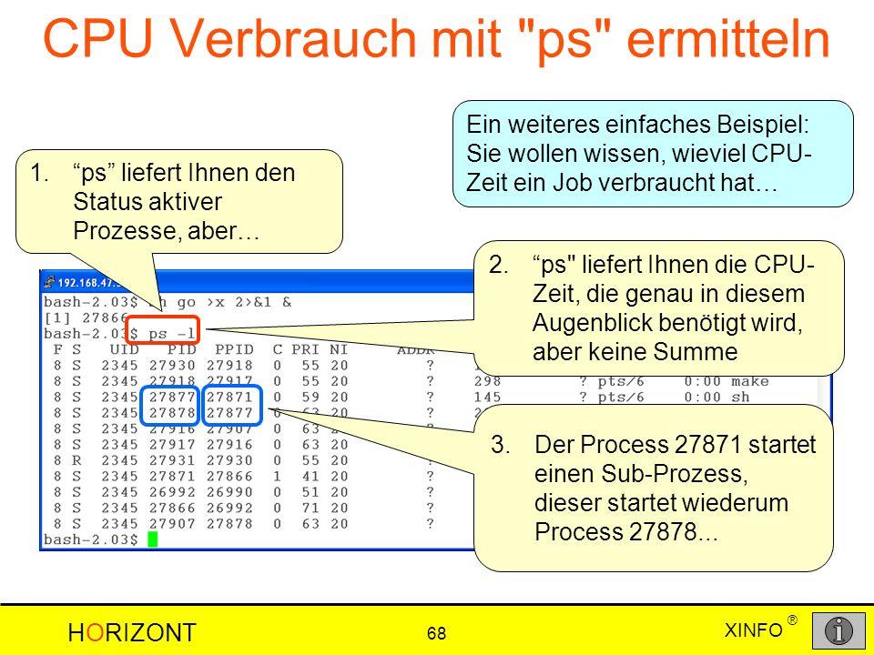 CPU Verbrauch mit ps ermitteln
