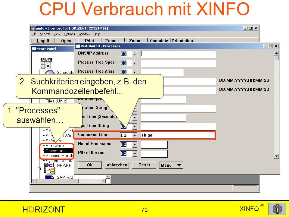CPU Verbrauch mit XINFO