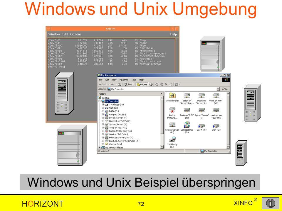 Windows und Unix Umgebung