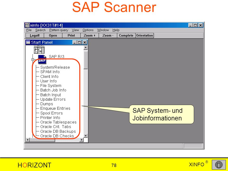 SAP Scanner SAP System- und Jobinformationen