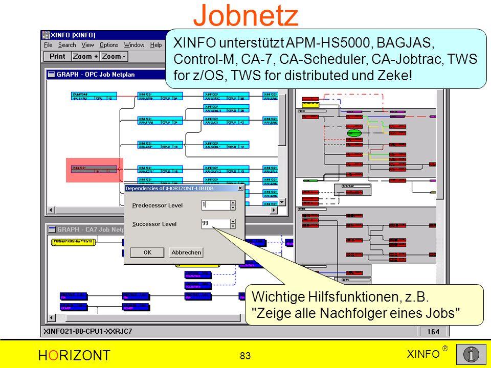Jobnetz XINFO unterstützt APM-HS5000, BAGJAS, Control-M, CA-7, CA-Scheduler, CA-Jobtrac, TWS for z/OS, TWS for distributed und Zeke!