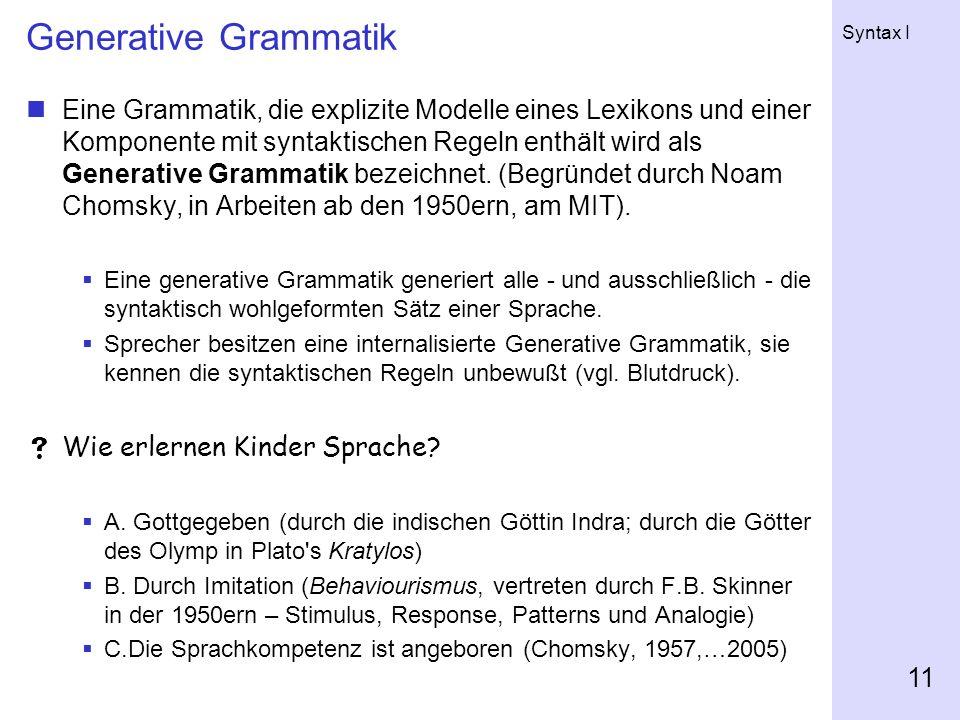 Generative Grammatik