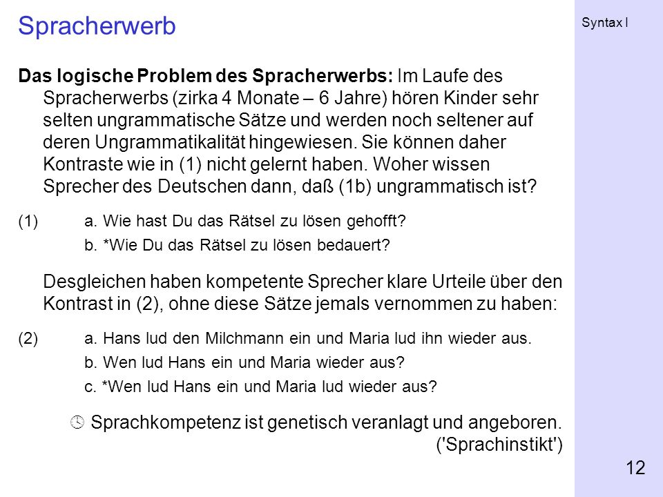 Spracherwerb