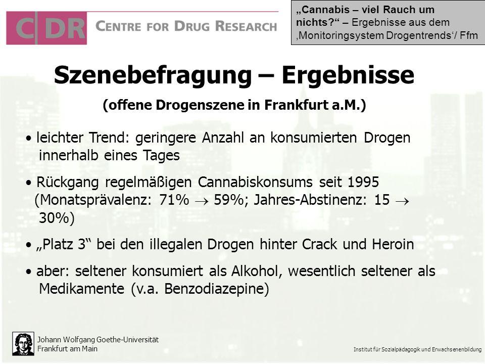 Szenebefragung – Ergebnisse (offene Drogenszene in Frankfurt a.M.)