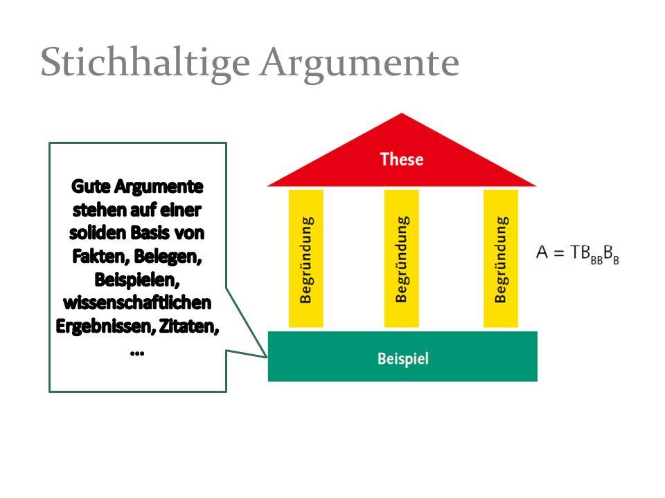 Stichhaltige Argumente