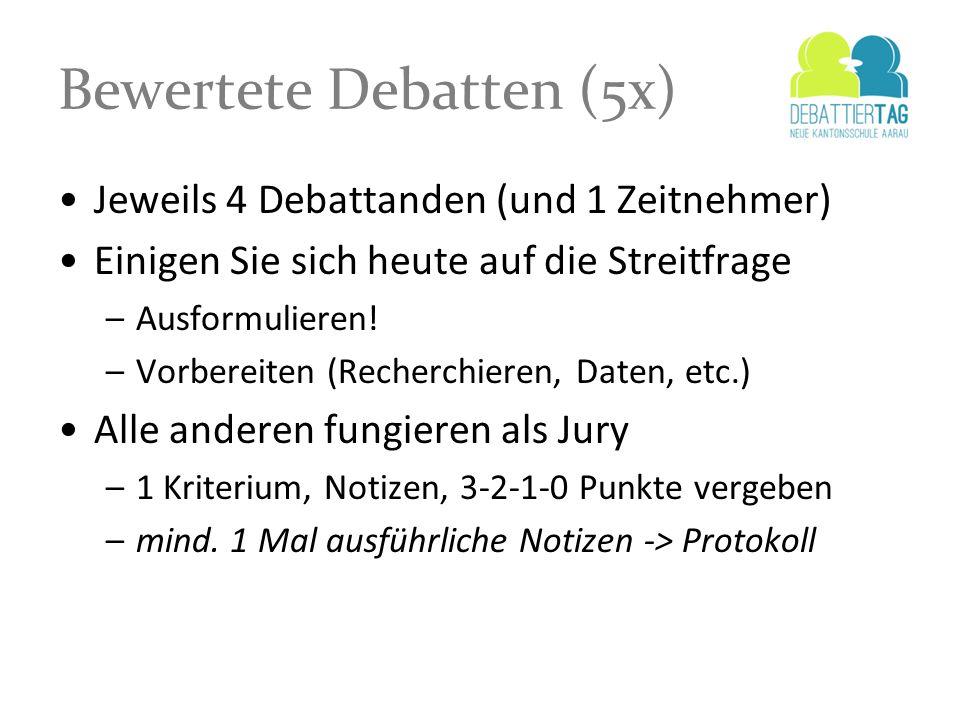 Bewertete Debatten (5x)