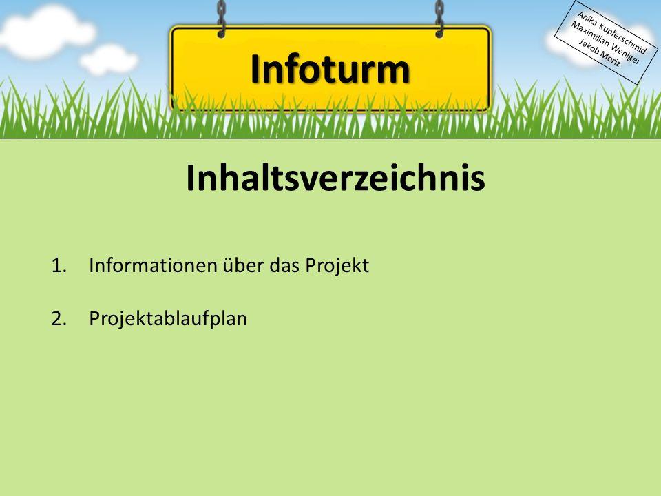 Infoturm Inhaltsverzeichnis Informationen über das Projekt