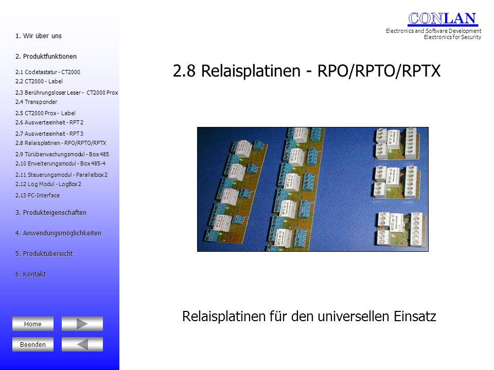 2.8 Relaisplatinen - RPO/RPTO/RPTX