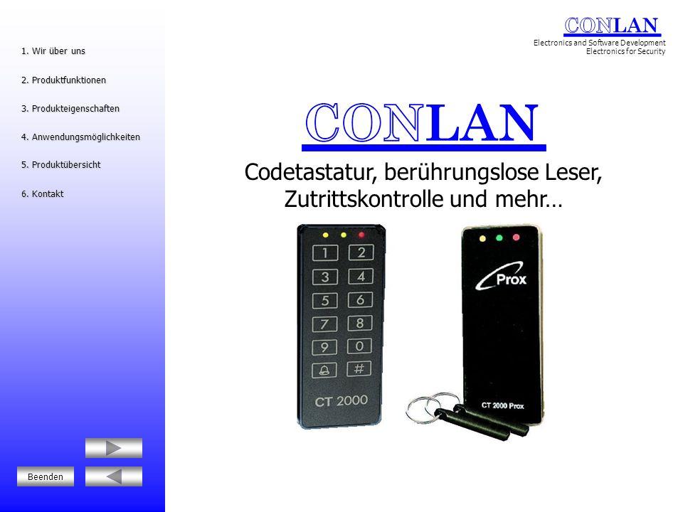 Codetastatur, berührungslose Leser, Zutrittskontrolle und mehr…
