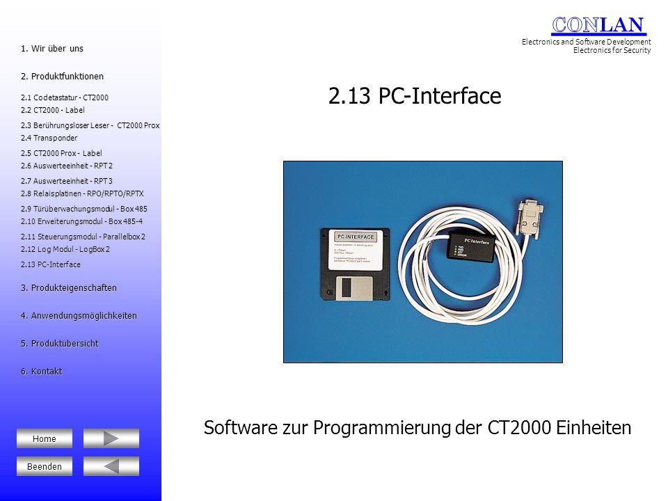 Software zur Programmierung der CT2000 Einheiten