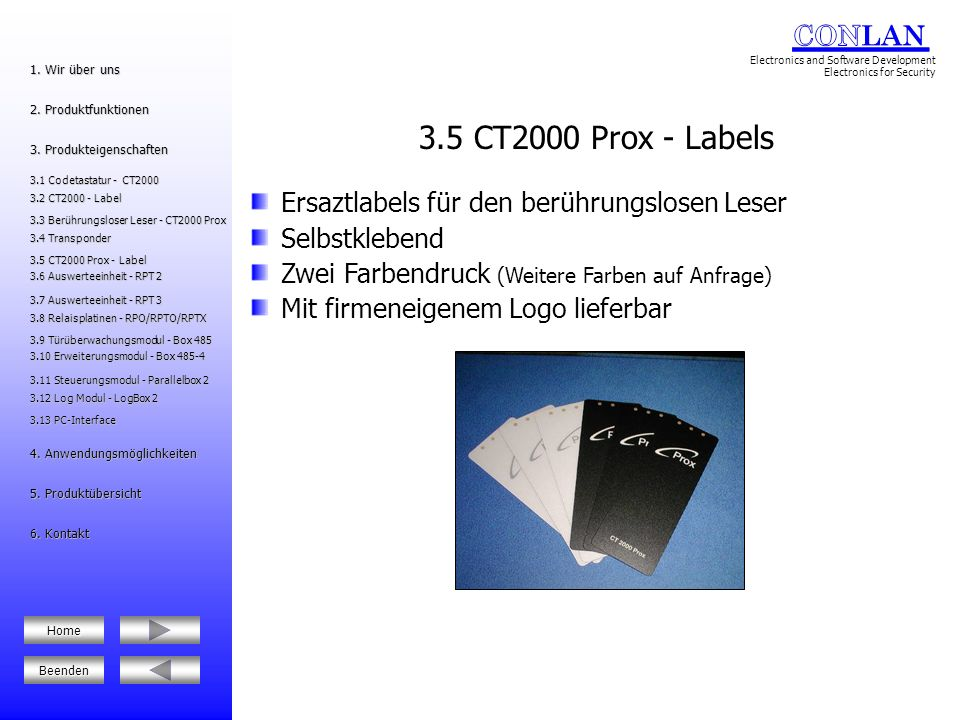 3.5 CT2000 Prox - Labels Ersaztlabels für den berührungslosen Leser