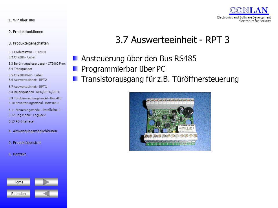 3.7 Auswerteeinheit - RPT 3 Ansteuerung über den Bus RS485