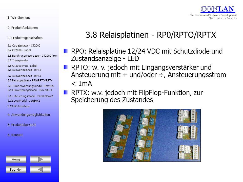 3.8 Relaisplatinen - RP0/RPTO/RPTX