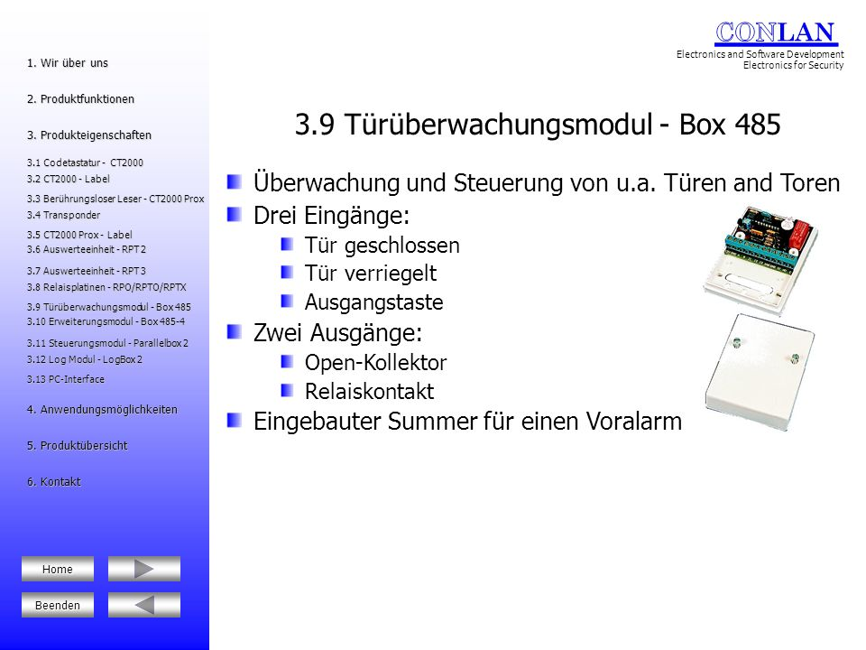 3.9 Türüberwachungsmodul - Box 485