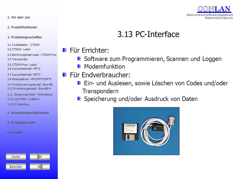 3.13 PC-Interface Für Errichter: Für Endverbraucher:
