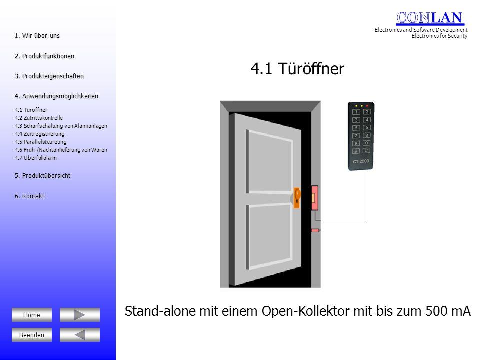Stand-alone mit einem Open-Kollektor mit bis zum 500 mA