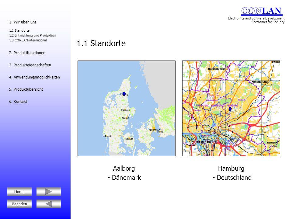 1.1 Standorte Aalborg - Dänemark Hamburg - Deutschland 1. Wir über uns