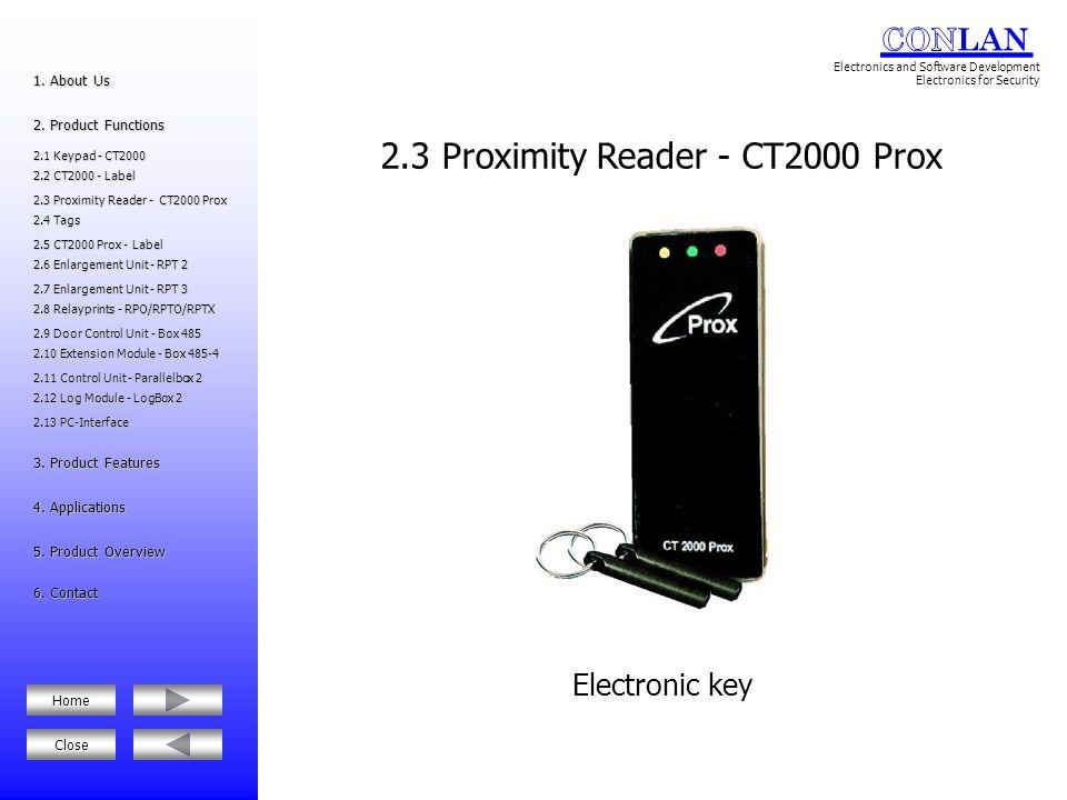 2.3 Proximity Reader - CT2000 Prox