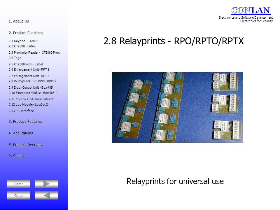 2.8 Relayprints - RPO/RPTO/RPTX