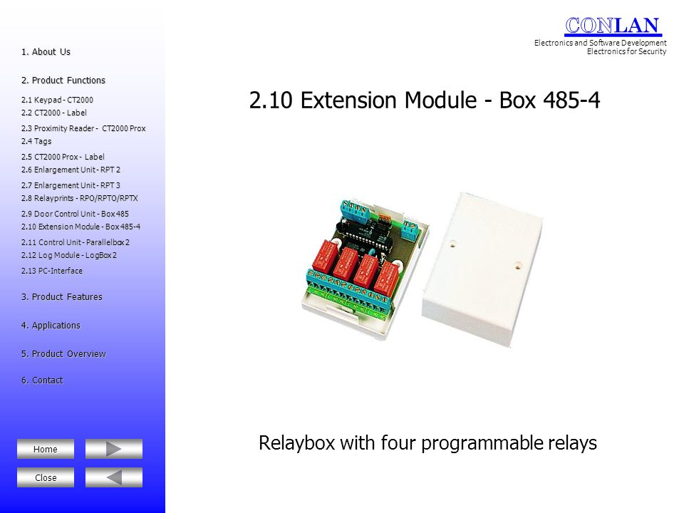 2.10 Extension Module - Box 485-4