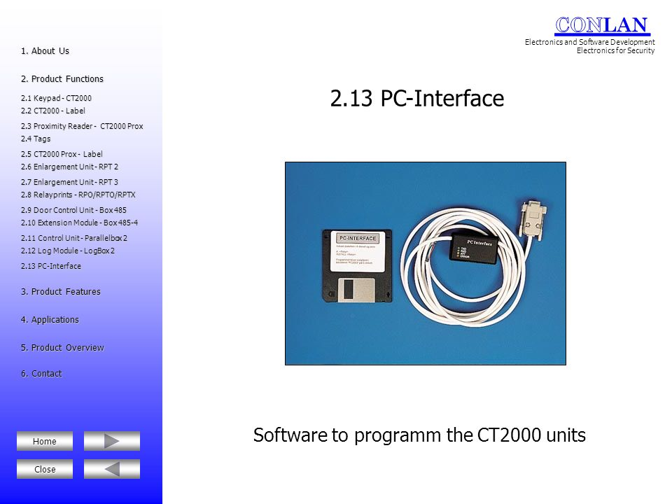 Software to programm the CT2000 units