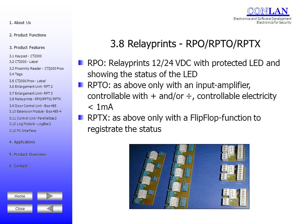 3.8 Relayprints - RPO/RPTO/RPTX