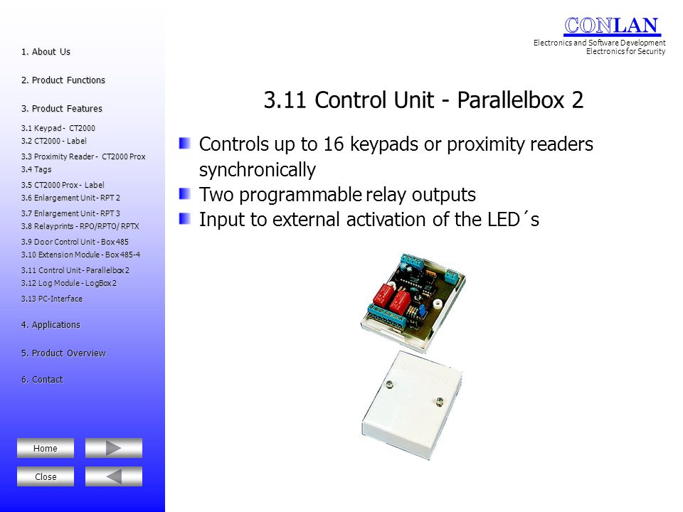 3.11 Control Unit - Parallelbox 2