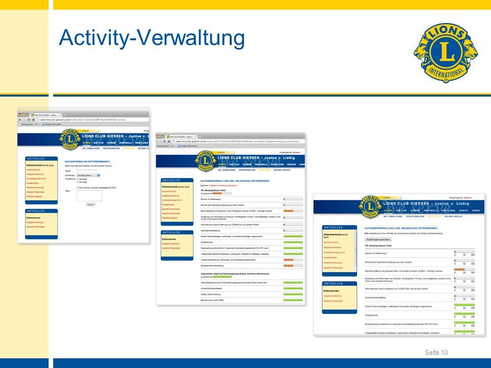 Activity-Verwaltung