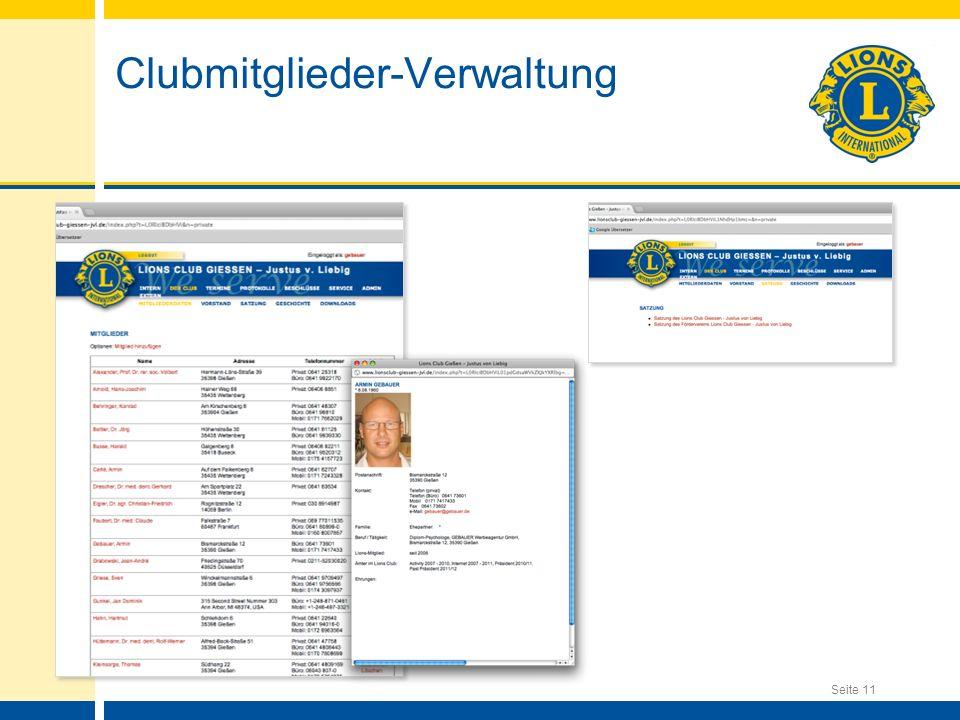 Clubmitglieder-Verwaltung