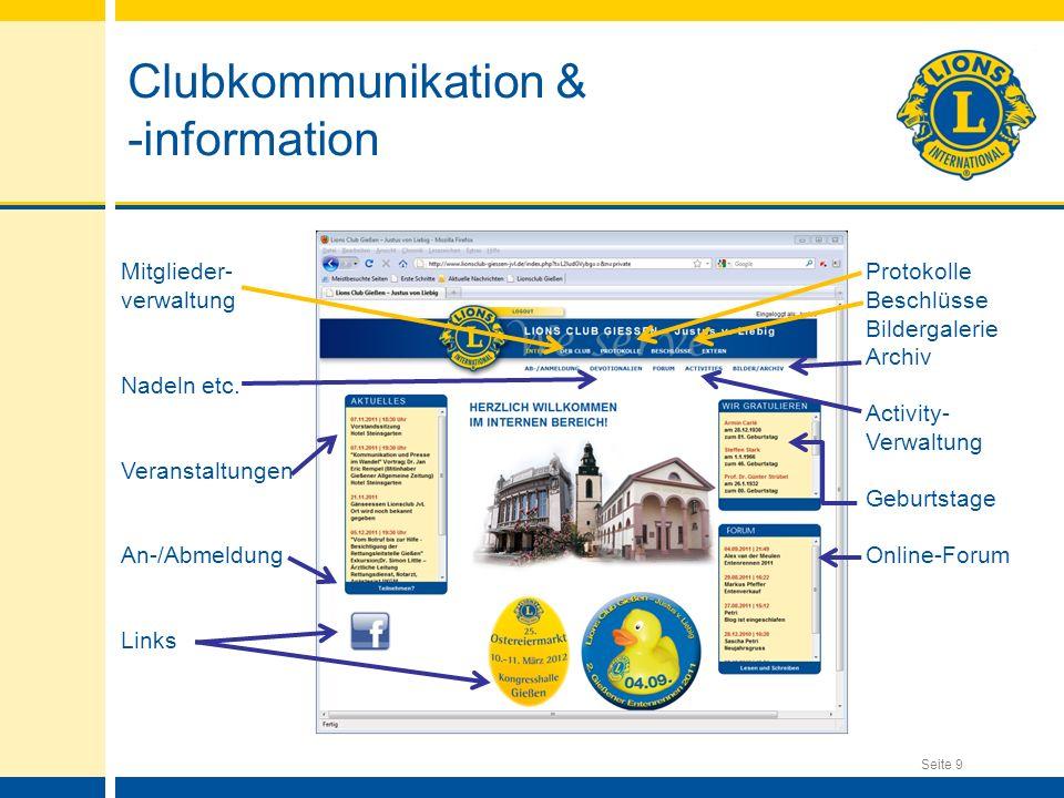 Clubkommunikation & -information