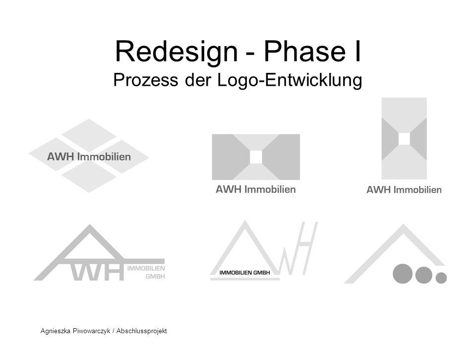 Redesign - Phase I Prozess der Logo-Entwicklung