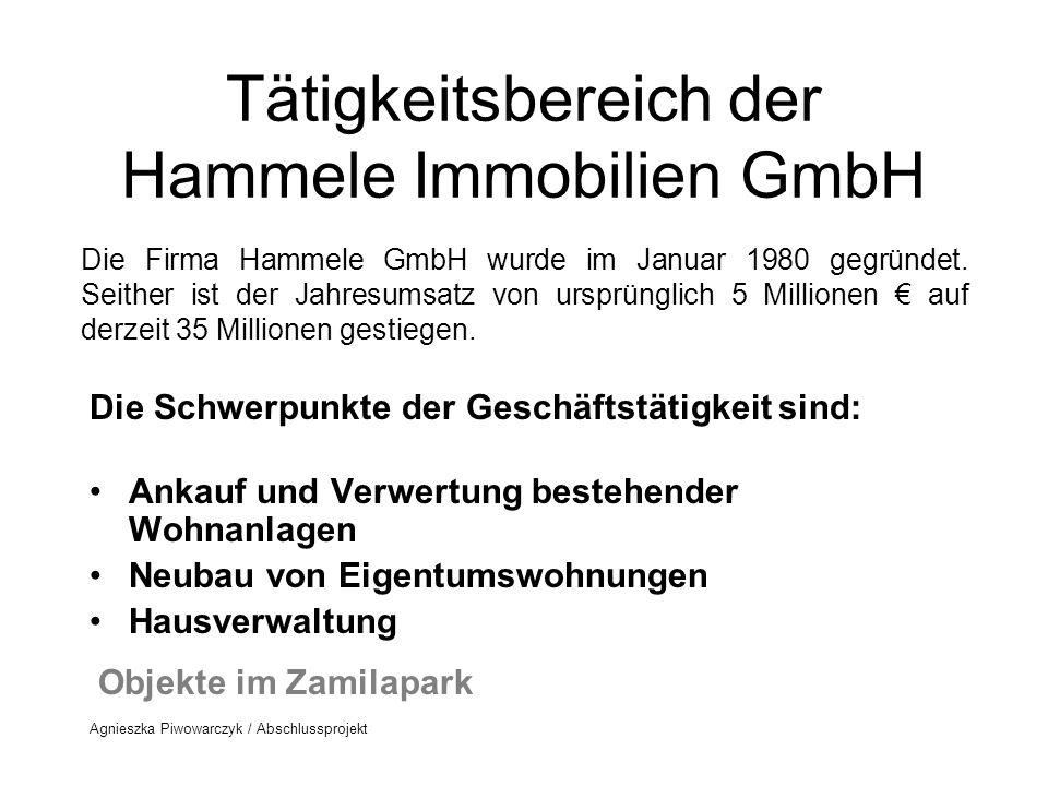Tätigkeitsbereich der Hammele Immobilien GmbH