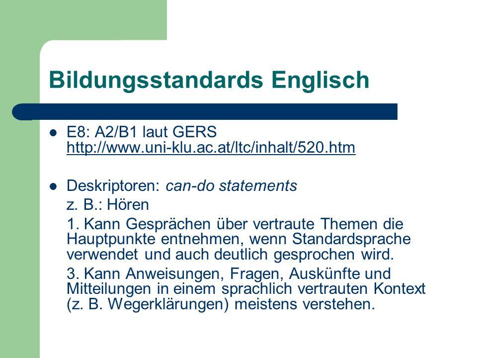 Bildungsstandards Englisch