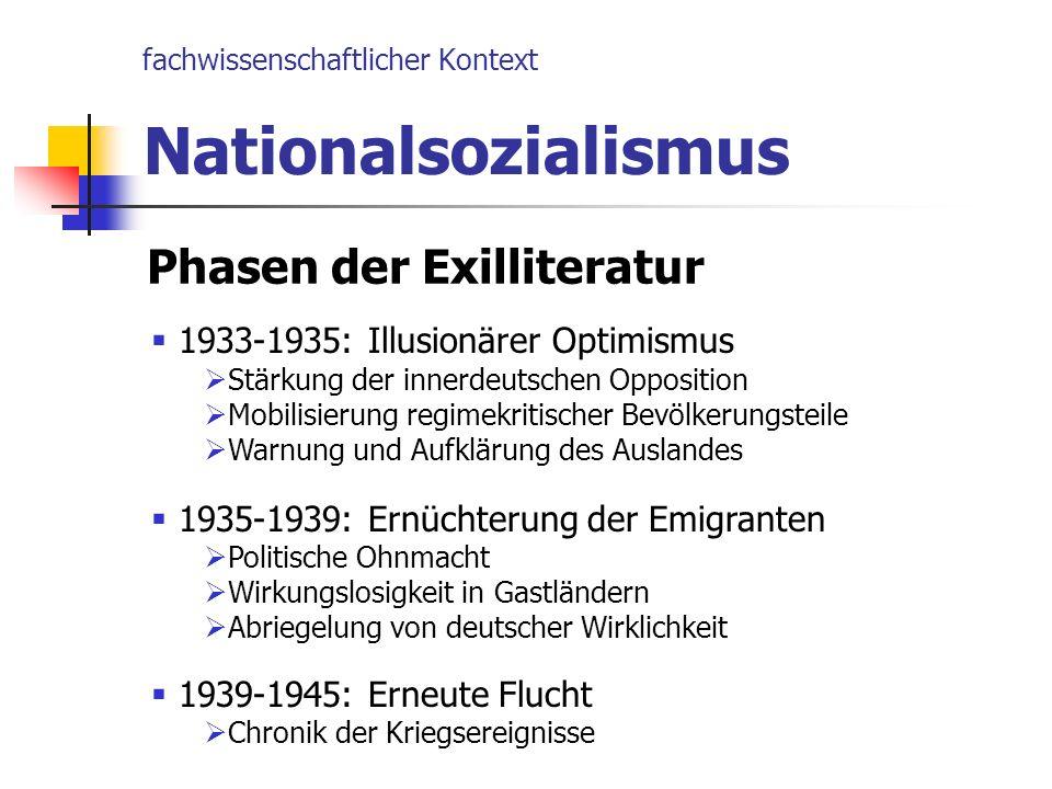 fachwissenschaftlicher Kontext Nationalsozialismus