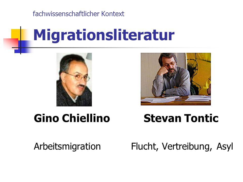 fachwissenschaftlicher Kontext Migrationsliteratur