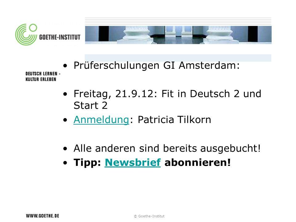Prüferschulungen GI Amsterdam: