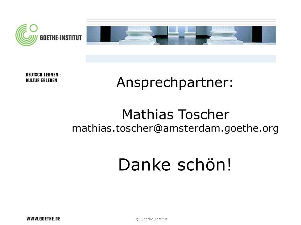 Danke schön! Ansprechpartner: Mathias Toscher