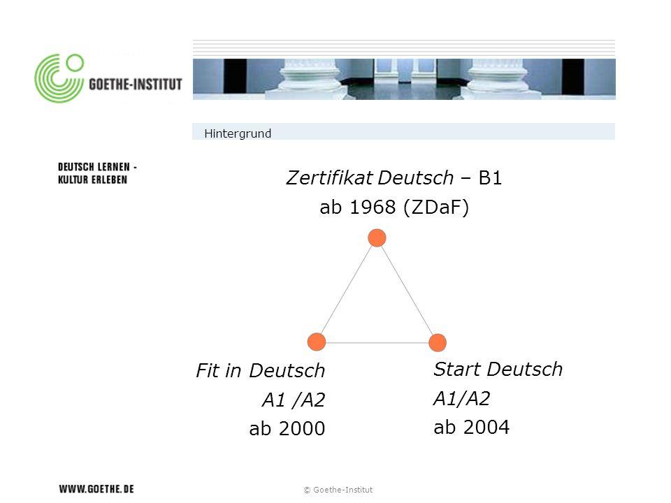 Zertifikat Deutsch – B1 ab 1968 (ZDaF) Fit in Deutsch Start Deutsch