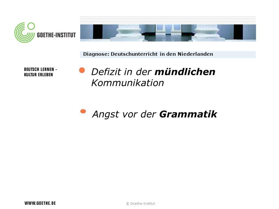 Defizit in der mündlichen Kommunikation