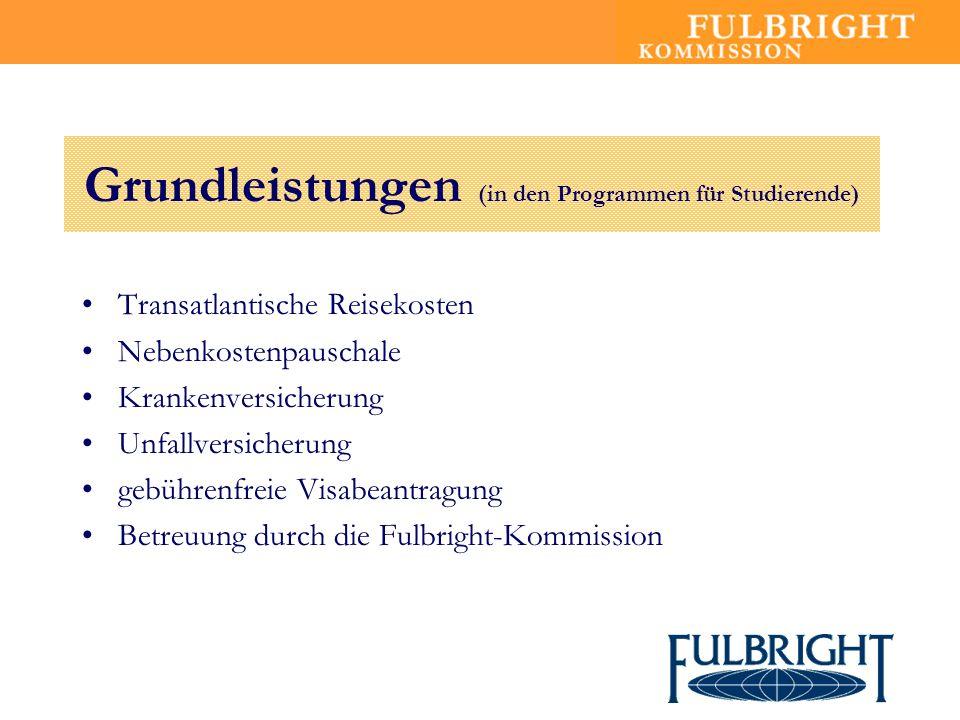 Grundleistungen (in den Programmen für Studierende)