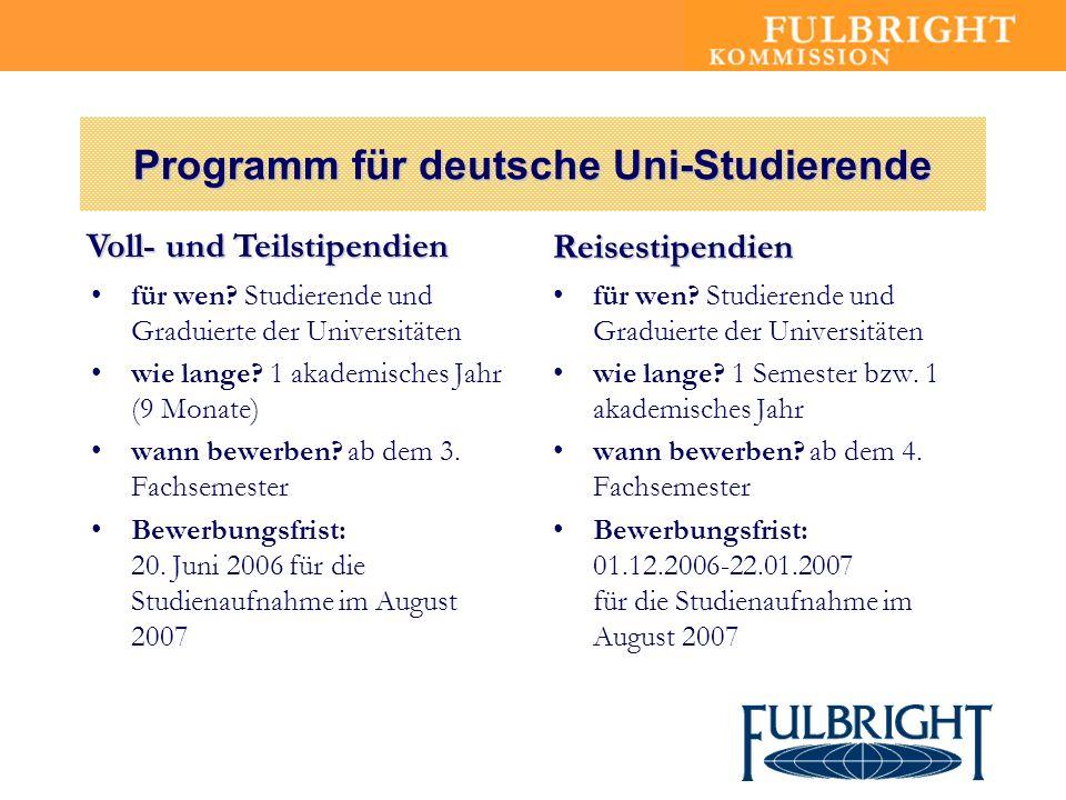 Programm für deutsche Uni-Studierende