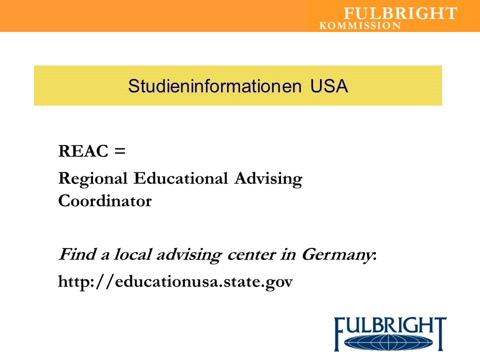 Studieninformationen USA